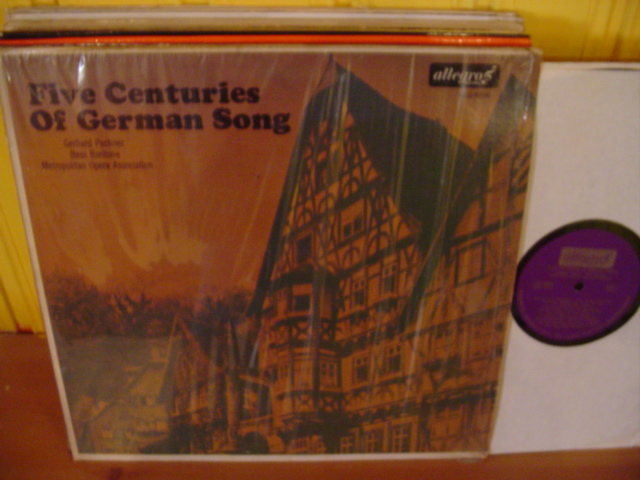 GERMAN SONGS - FIVE CENTURIES - GERHARD PECHNER - ALLEGRO W41